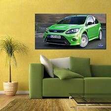 2016 FORD FOCUS RS AWD RALLY CAR LARGE AUTOMOTIVE HIGH DEFINITION POSTER 24x48in