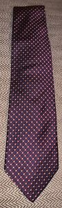 Brooks Brothers Men's 100% Silk Tie Navy Blue With Red And Yellow Grid Pattern