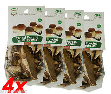 4 Packs Dried Sliced Porcini Mushrooms, Boletus Edulis 4x40g, Wild Hand Selected