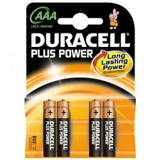4 x Pilas Duracell Alcalinas AAA 1,5 V LR03 MN2400B4 Baterías Alcalinas Battery