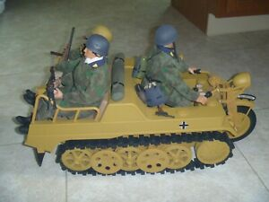 1/6 21st Century Ultimate Soldier WWII Kettenkrad w/3 Fallschirmjager paratroops