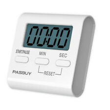 PASBUY Mini Digital LCD Magnetic Kitchen Timer Cooking Alarm Stand Count Up