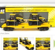 MTH  RAILKING CATERPILLAR FLAT CAR 75E TRACTORS  30-76145  MINT IN BOX