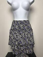 Free People skirt or tube top. Medium floral purple layered, frayed