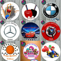 SEND US ANY TEAM LOGO / PICTURE EDIBLE WAFER ICING CAKE CUPCAKE TOPPERS BADGE
