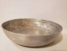 Everlast Metal Aluminum Bowl Dogwood Flowers Trinket Holder Hand Forged Vintage