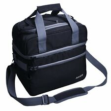 MIER Double Compartment Cooler Bag Large Insulated Bag for Lunch, Picnic, Beach,