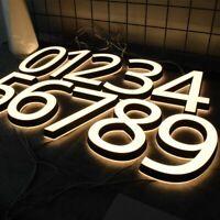 3D LED House Number Custom Door Plate Stainless Steel Letter Sign Address Home