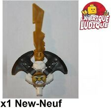 Lego - 1x minifig arme weapon sabre sword épée skull ninjago Sensei Wu Gold NEUF