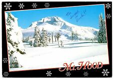 Mt Hood Oregon Postcard Snow Ski Slopes Trees Winter Posted 1994 Vintage