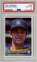 1984 Donruss #248 Don Mattingly RC Rookie (Yankees) PSA 8 NM-MT