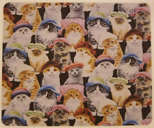 Cats With Hats Anti-Slip Rectangle Mouse Pad (18x22cm) (8.5