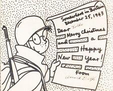 WWII Patriotic VMAIL Private Breger Censor Christmas Joke APO 635 England '43 9t