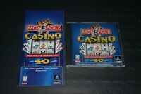 Monopoly Casino~Over 40 Games~Windows 95-98~PC Game~With Manual~FAST SHIPPING!