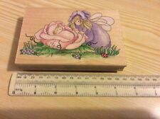 "Stamps Happen Inc. Sweet pea flower fairy - 80102. 5.25"" x 3.5"". New."