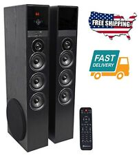 10 Inch Sound Home Theater Audio System Tower Music Speakers Sub Bluetooth USB