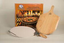 Pizzastein Set Brotbackstein für Backofen Holzofen Gasgrill Grillstein geeignet