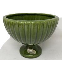 Vintage HAEGER Pottery Green Glaze.beautiful Retro Planter Vase  Modern.