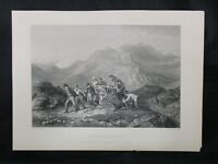 1800s Etching Engraving - The Height of Ambition by Jacob Thompson & C. Cousen