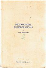 RODEGEM - DICTIONNAIRE RUNDI-FRANCAIS - LIVRE ANCIEN RARE - AFRIQUE