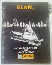 1982 Ski Doo Elan Snowmobile Parts Catalog