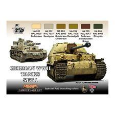 LIFECOLOR PAINT German WWII Tanks 1 Camouflage Set 6 22ml Bottles FREE SHIP