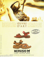 PUBLICITE ADVERTISING 056  2003   Mephisto M  chaussures sandales homme
