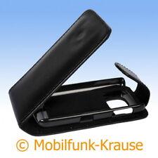 Flip Case Etui Handytasche Tasche Hülle f. Nokia Asha 311 (Schwarz)