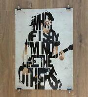 Foo Fighters Dave Grohl A2 size typography art print/poster Premium Quality