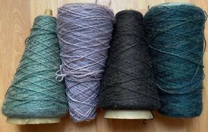 Machine Knitting Yarn 4x Vintage Cone 485 grams Mixed Lot B610