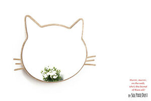 Safety Mirror Kitty with LED light - Wall Decor Mirror - Nursery Kid Mirror