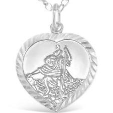 Collares y colgantes de joyería de metales preciosos sin piedras religiosos plata