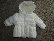 NEW GAP WARMEST BOW PEPLUM WINTER JACKET BABY GIRL 0-6 MONTH CREAM