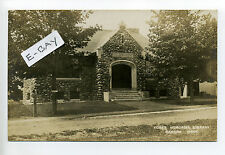 Oakham MA Mass RPPC real photo Fobes Memorial Library, 1910