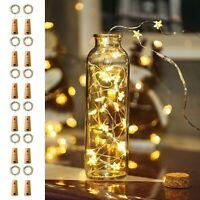 20-50LED Cork Shaped Night Light Starry Lights Wine Bottle Lamp Wedding Party Vi