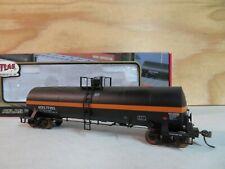 ATLAS HO SCALE RTR ACFX ORANGE & BLACK 77353 RAILROAD TANK CAR W/BOX 1552-2