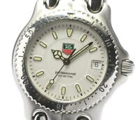 TAG HEUER s/el WG1212-K0 Date White Dial Quartz Boy's Watch_561678