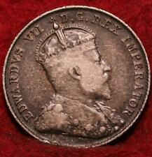 1902 Canada 10 Cents Silver Foreign Coin