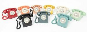 Retro Corded Telephone Landline GPO 746 Phone - Working Rotary Dial All Colours