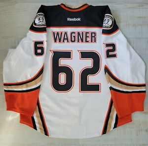Chris Wagner Anaheim Ducks 2016 Playoffs Game Worn Road Jersey