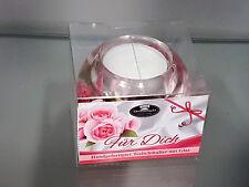 Geschenk Teelichthalter Für Dich aus Glas Dreamlight Deko Kerze edel Blume
