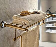Antique Brass Bathroom Accessory Towel Rail Holder Storage Shelf Bar aba411