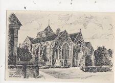 Rye Church & Memorial Vintage Art Postcard AJ Goodes 811a