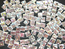 50 Iridised SILVER Mosaic Mirror Tiles 1cm x 1cm Crafts