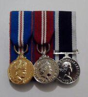Court Mounted Miniature Medals, Golden, Diamond Jubilee, Royal Navy LSGC, Mini