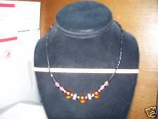 black red amber kenya Hand made beaded choker Necklace