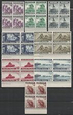 Polish Exile Government in London stamps 1941 MI 360-367 Blocs of 4  MNH  VF