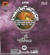 NADEEM SARWAR- HUM HUSSAINI HAIN-NOHAY CARDBOARD PACKING DVD VOL23 -FREE UK POST