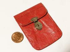 Antique Georgian c1800's Fine Red Leather & Silver Clasp Coin Money Purse