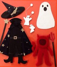 SPOOKY COSTUMES Dimensional Stickers(7pc)Jolee's Halloween•Witch•Devil